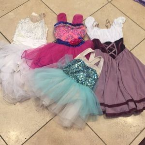 Four Dance Costumes- Size S-M